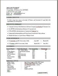 resume formats free excellent resume sample format