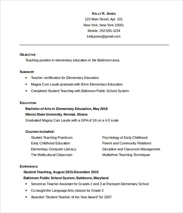 resume formats free