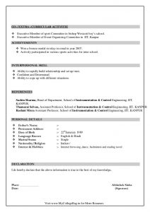resume high school graduate instrumentation control freshers resume format sample