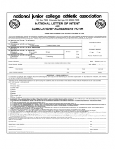 resume template for high school students national letter of intent and scholarship agreement form l