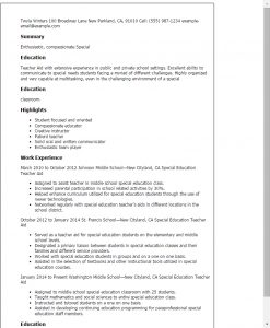 resume template for teaching professional special education teacher aide templates to showcase in teacher assistant resume example
