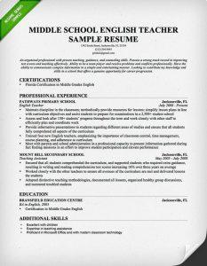 resume templates for teachers english teacher resume sample