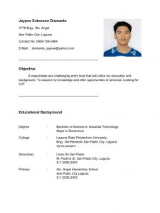 resume templates free download for microsoft word resume for ojt mechanical engineering student resume template example with photos free download