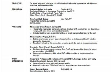 resume templates pdf mechanical engineer resume template for fresher pdf download min