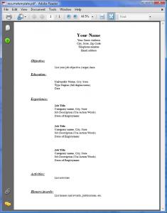 resume templates pdf resumetemplate pdf