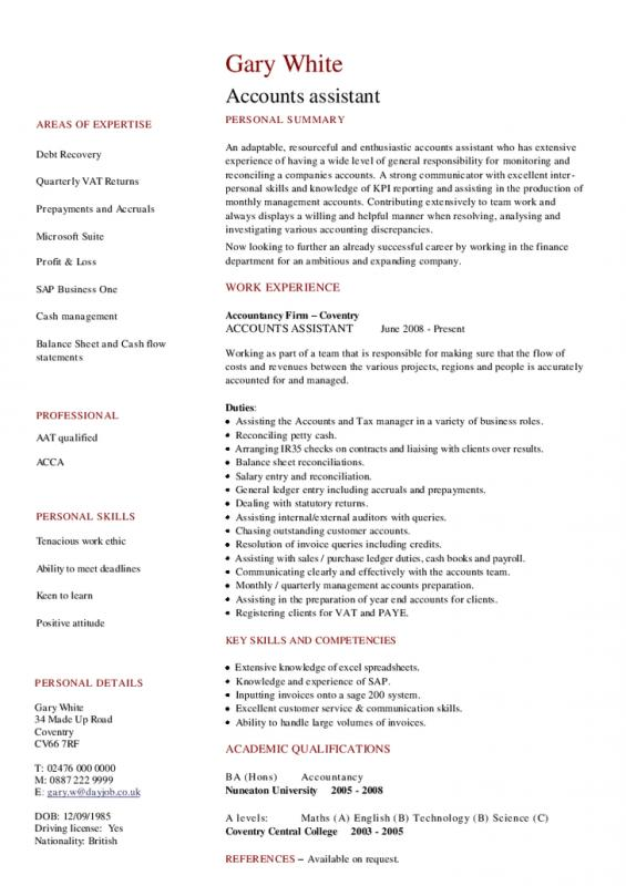 resumes for waitresses