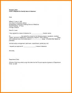resumes for waitresses leave letter format for school school leave letter format leave of absence request letter sample