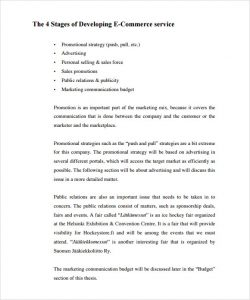 retail business planning business plan template for online retail business