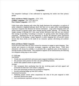 retail business planning printable retail business plan template