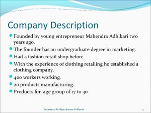 retailing business plan business plan for the witty clothing company