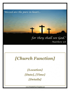 retirement flyer template church function flyer
