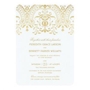 retirement invitation templates wedding invitations gold vintage glamour invitation card