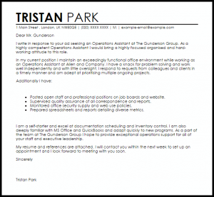 retirement letter sample operations assistant