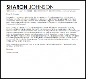 retirement letter sample study abroad coordinator