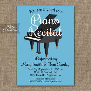 retirement party invitation templates piano recital
