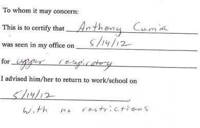return to work doctors note template large