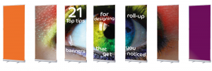 roll up banner design christmas party offer roll up banners tips