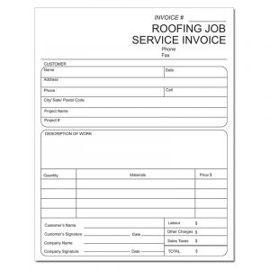 roofing contract template dnp