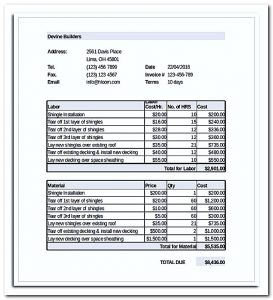 roofing contract template free roofing estimate templates in excel format download