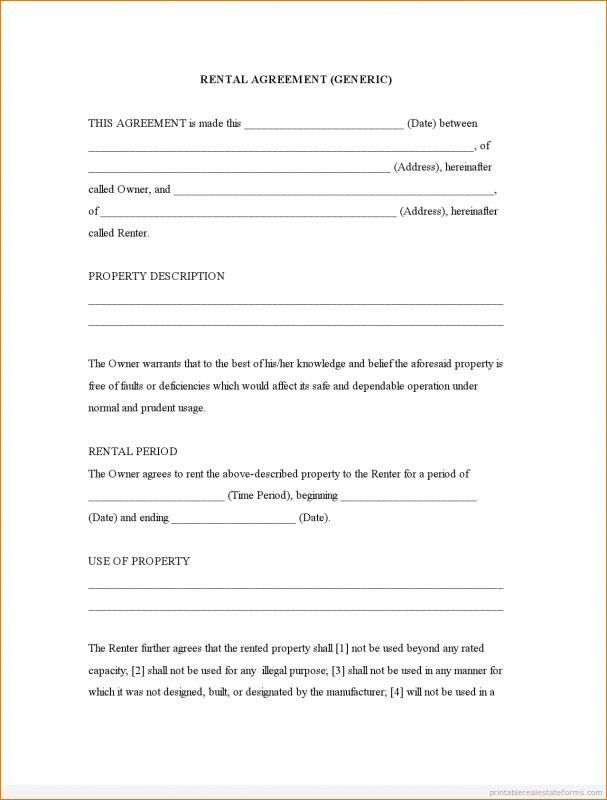 room leasing agreement