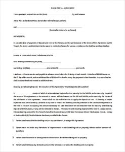room rental agreement doc month to month room rent agreement doc download