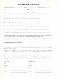 room rental agreement template room lease agreement