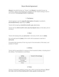 room rental agreement template room rental agreement