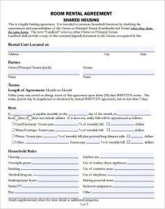 room rental agreement template room rental agreement template