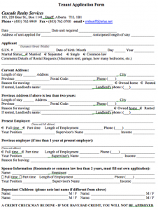 room rental application alberta tenant application form