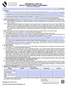 roommate contract template california association of realtors residential lease agreement x