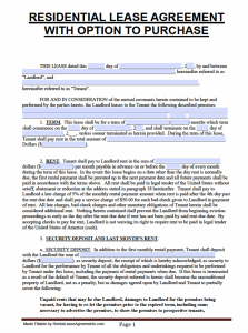roommate contract template florida residential lease agreement with option to purchase template x