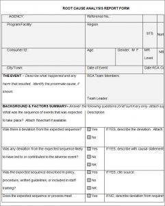 root cause analysis template root cause analysis template free