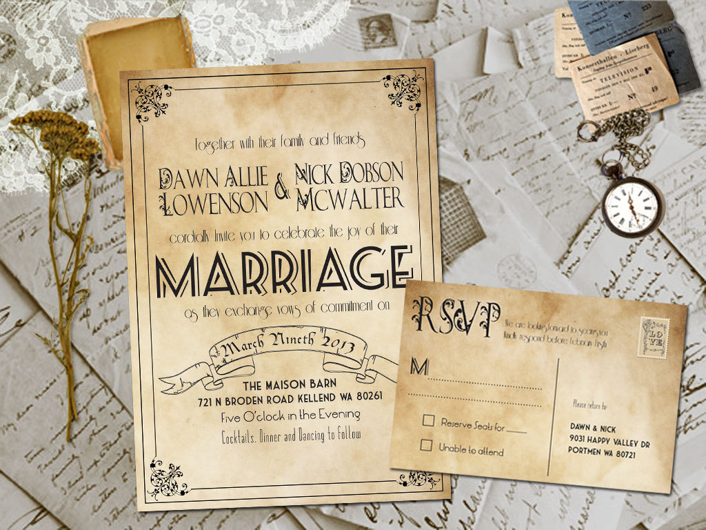 Rustic Wedding Invites Templates Template Business