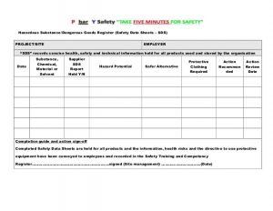 safety meeting sign in sheet site specific safety plan master