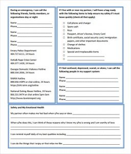 safety plan template student safety plan template