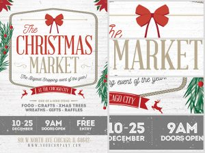 sale flyers template christmas market flyer template