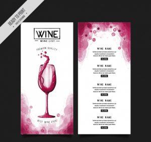 sale flyers template wine menu