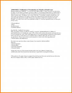 sale proposal template end rental agreement letter ending a tenancy letter lease on end of lease letter printable for termination of lease letter