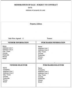 sale proposal template sales memo