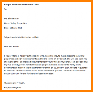sale proposal template sample authorization letter to claim money