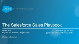 sales agreement template salesforce sales playbook session essentials dubai feb