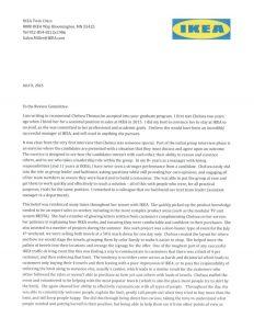 sales letters sample ikea recommendation letter