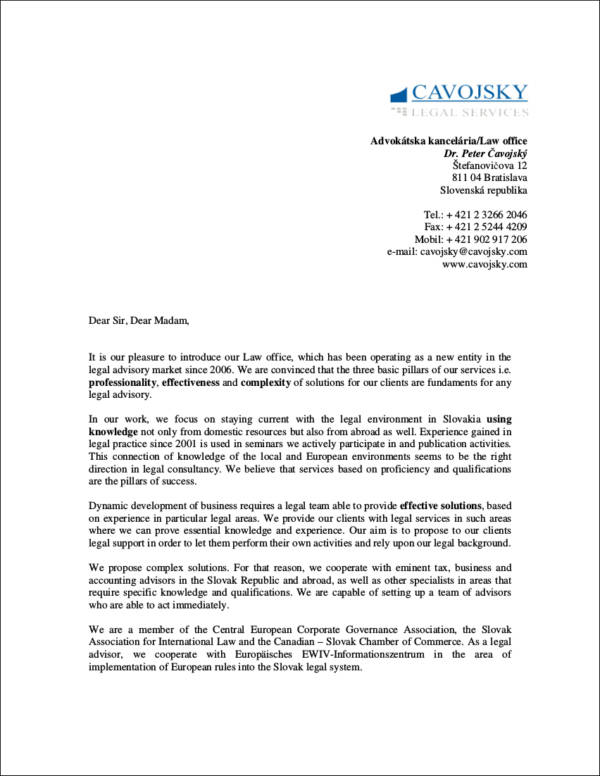 sales letters template