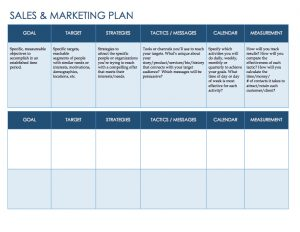 sales plan template sales marketing template