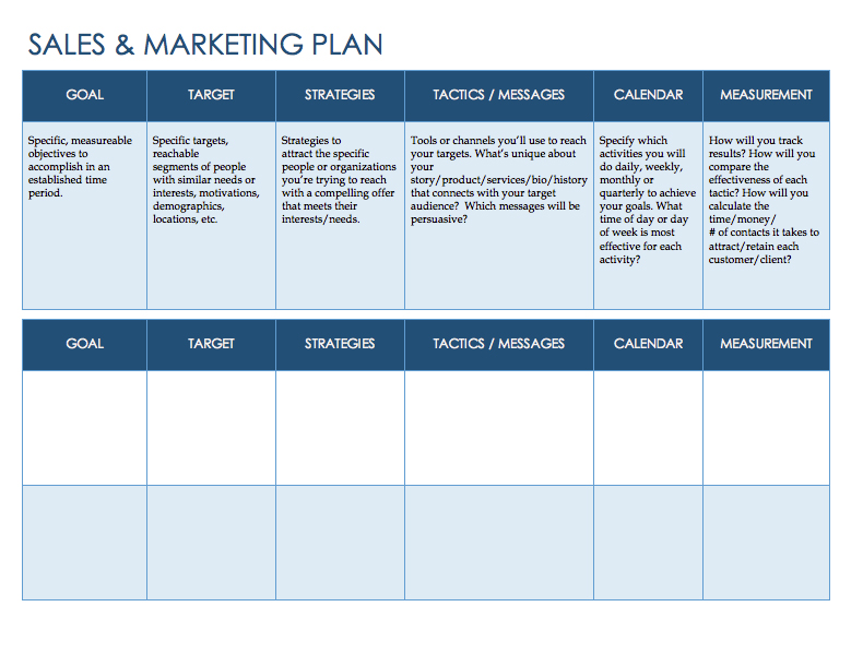 sales plan template