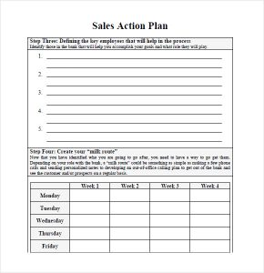 sales plan template sales plan template image