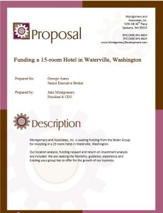 sales proposal template commercial real estate investment funding proposal