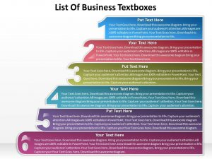sales proposal templates business powerpoint templates list of textboxes sales ppt slides slide