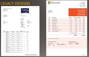 sales report templates design comparison