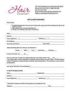 salon booth rental agreement applicationform